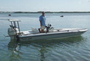 Captain Dave Perkins - Flats boat