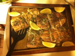 Fresh Cedar Planked Grilled Dill Salmon