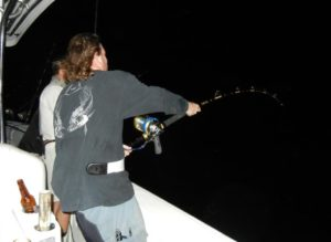 swordfishing - Tavernier - charter captain - nightfishing