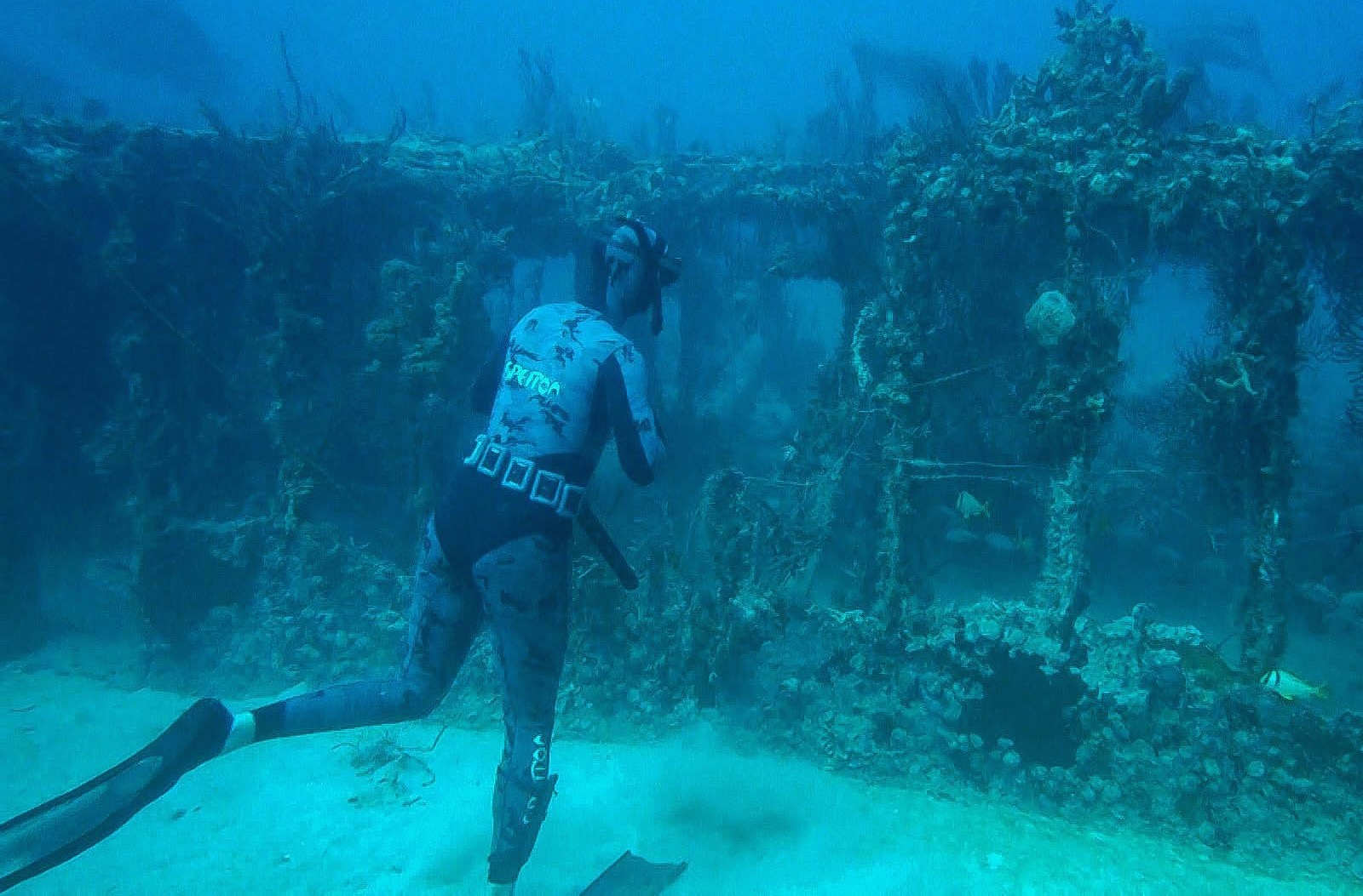 Matt Hunting on a Deep Wreck