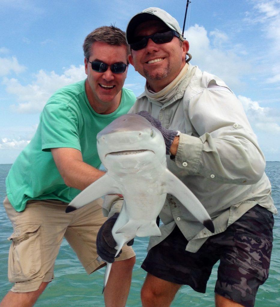 Backcountry fishing - shark - tavernier - 2015