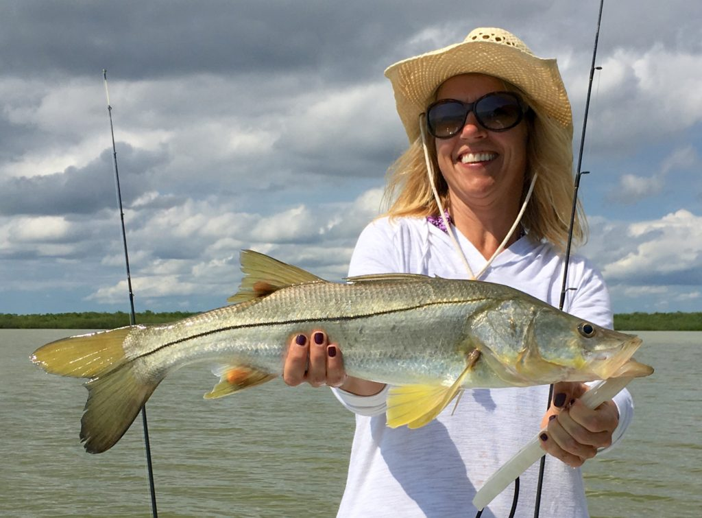 Everglades - girls fishing - snook - 2006