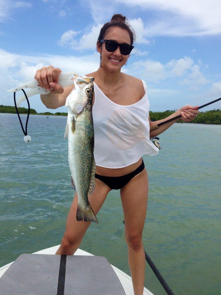 Flats fishing - bikinis - key largo - trout - 2009