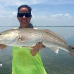 Over slot redfish - women who fish - flats fishing - key largo - 2011