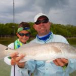 Shallow water fishing - kids fishing- tavernier - redfish - 2016