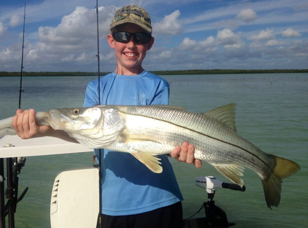 Skinny water - Snook - Kids fishing - tavernier - 2014