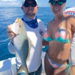 Yellowtail snapper - bikinis - women fishing - tavernier - 2014