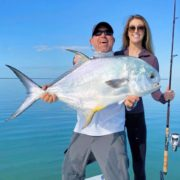 Heathers first Permit - Captain Dave Perkins Fishing Charters - Tavernier, FL